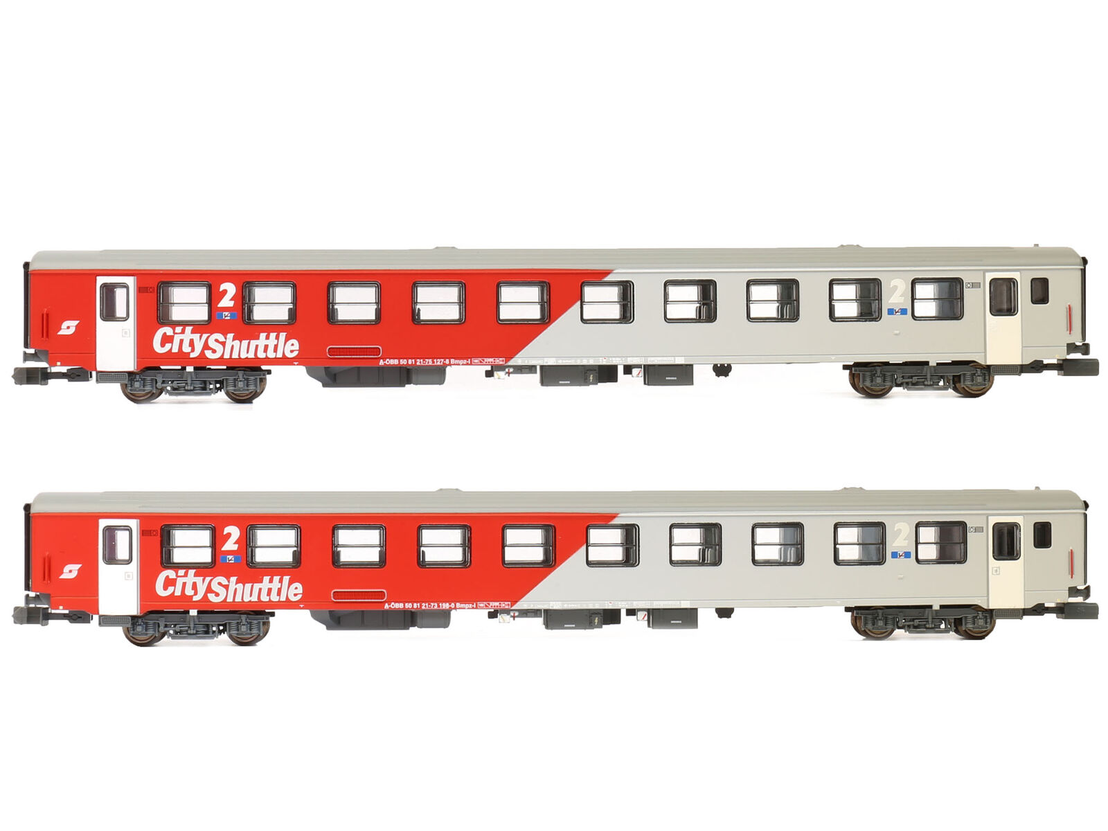 Jägerndorfer JC60230 - Personenwagen Set City Shuttle Pflatsch ÖBB Ep.V 2x - NEU