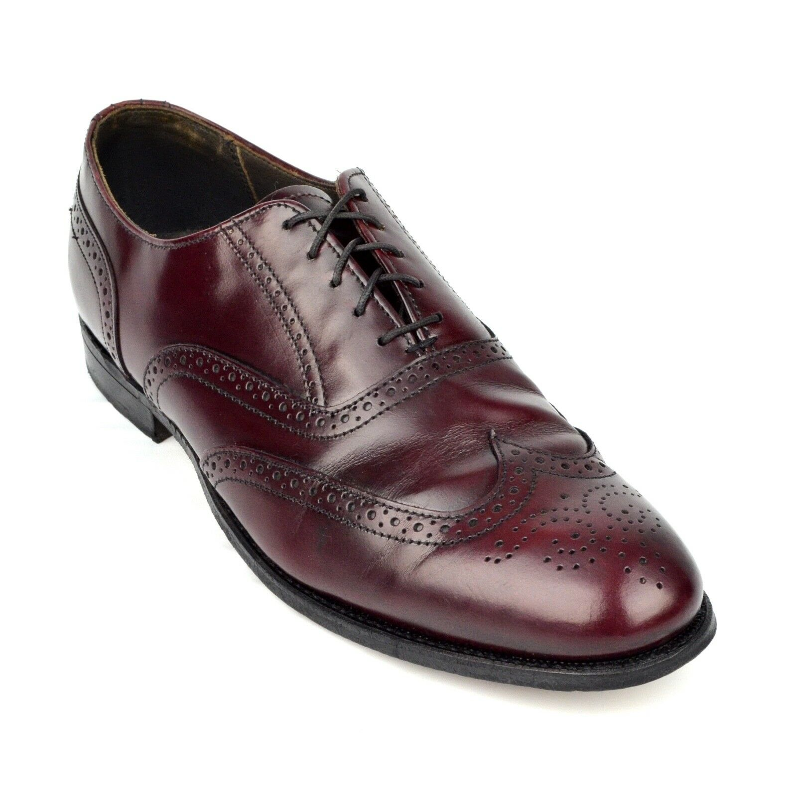 DEXTER Mens Wing Tip Brogue Lace Up shoes Sz 11.5 M Dress Oxford Burgundy Leather