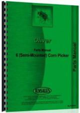 Oliver 6 Corn Picker Parts Manual Catalog