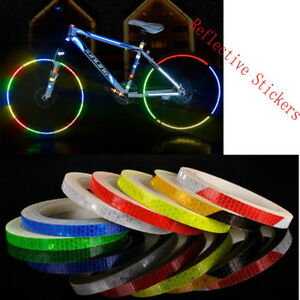 Reflective Stickers Reflector Security Wheel Rim Decal Tape Motorcycle Bicycle