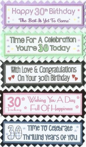 5 Adult Age Birthday Greeting Card Crafts Sentiment Message Banners Age 18-100