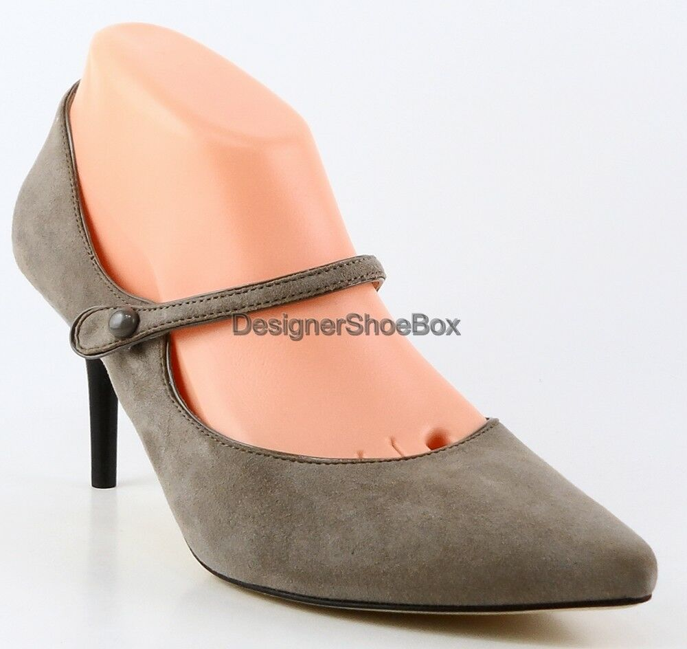 198 VIA SPIGA MACEY grau Suede Designer Pointed Pointed Pointed Toe Mary Jane Pumps Heels 7.5 4d3cc9