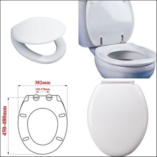 White Standard Oval Soft Close Toilet Seat Bottom Fix