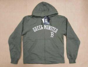 c8d4b1b0687 BIG COTTON GREEN MONSTER BOSTON RED SOX FLEECE FULL ZIP HOODIE MEN S ...