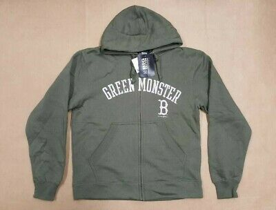 new product 8cb19 a7245 BIG COTTON GREEN MONSTER BOSTON RED SOX FLEECE FULL ZIP HOODIE MEN'S SIZE  LARGE 763838427493 | eBay