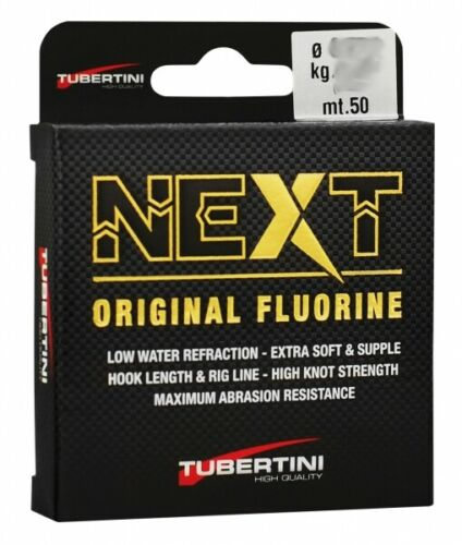 Tubertini Fluorine 0,188mm 50m 6,42Kg* 4268318 Forelle Vorfach TOP//NEU