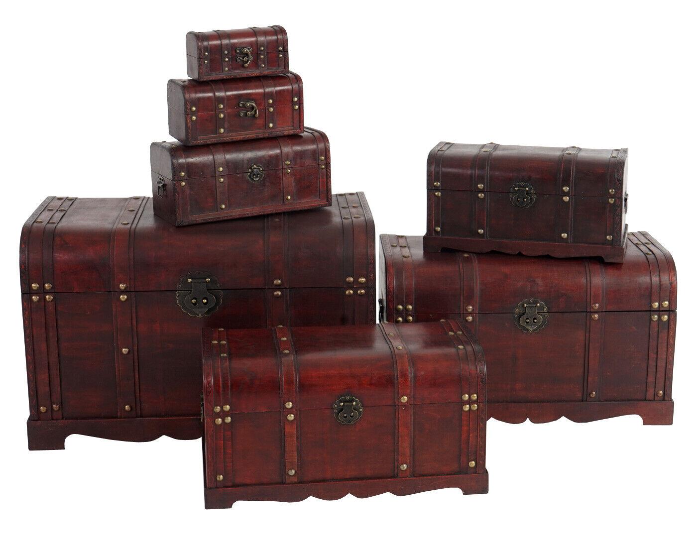 7er Set Holztruhe Holzbox Antibes Antikoptik 10x21x10 bis bis bis 49x77x47cm rund | Günstige Bestellung  65d8c1