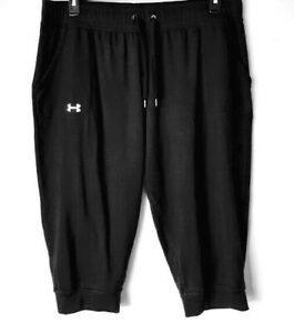 Under-Armour-UA-Heat-Gear-Womens-Loose-Fit-Comfort-XL-Black-Athletic-Pants-VGUC