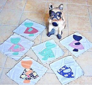 FOLKY-CHOICE-OF-ANTIQUE-SUNBONNET-SUE-QUILT-BLOCKS-HOME-MADE-USA