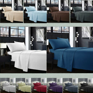 Egyptian-Comfort-1800-Count-4-Piece-Deep-Pocket-Bed-Sheet-Set-King-Queen-Size-R3