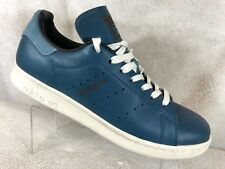 6ed72e7c7fa4 adidas Originals Stan Smith Blue Leather Lace Up Trainers Shoes Men s UK 7.5