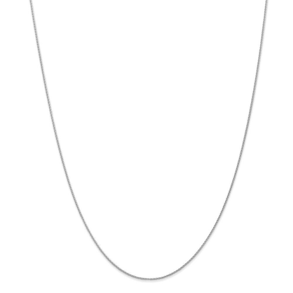 14kt White gold .90mm Parisian Wheat Chain; 14 inch