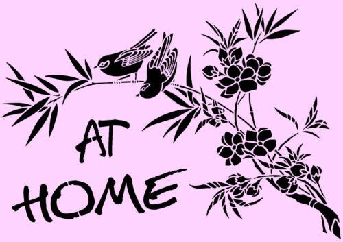 Schablone** At Home  **A4**für Stoffe 506 Möbel usw. ** Nr.