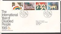 GB 1981 FDC International Year of the Disabled Bureau Edinburgh postmark stamps