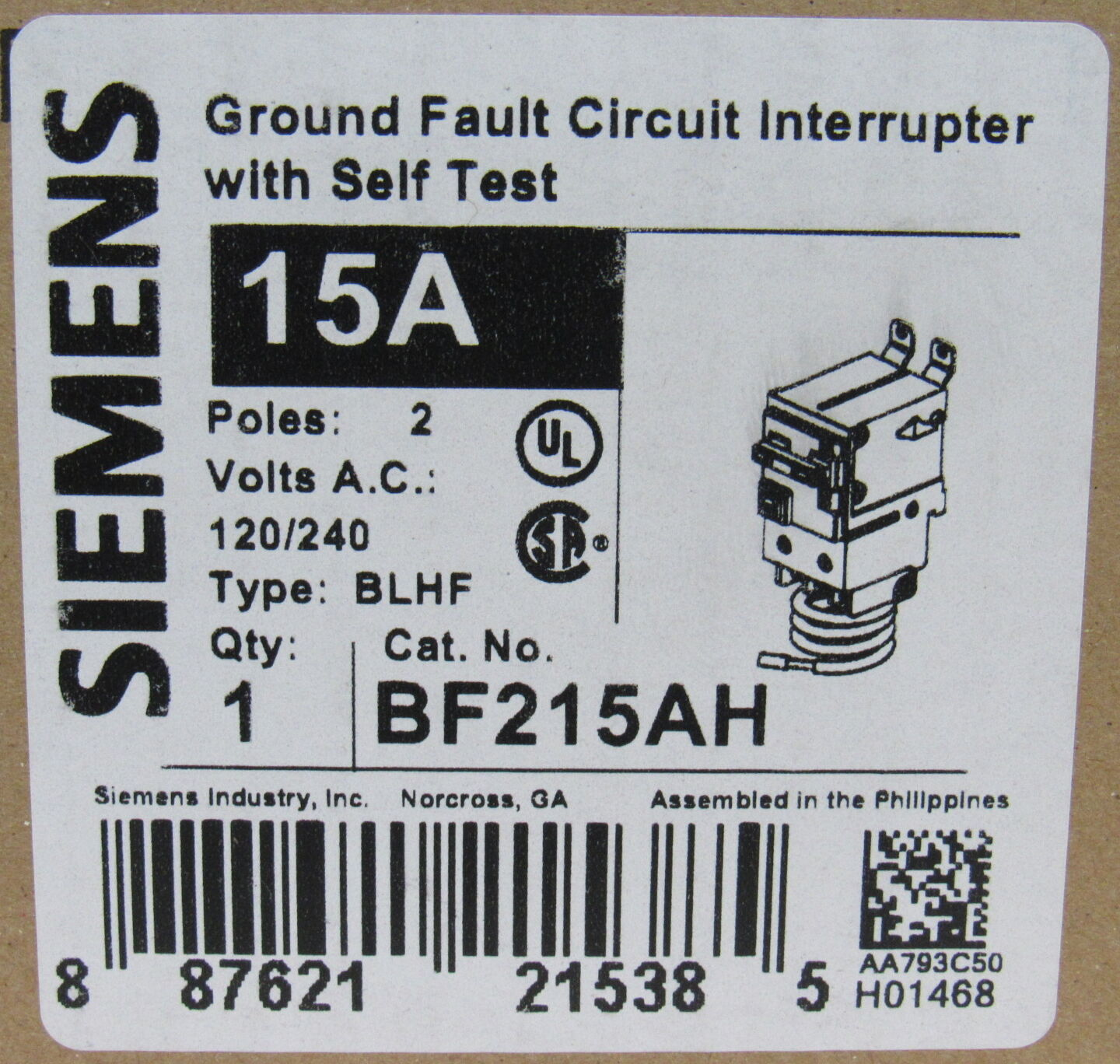 Ground Fault Circuit Interrupter Breaker Philippines Siemens Gfci 15a 2 Pole 120 240v 22 Norton Secured Powered By Verisign