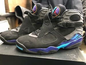 premium selection 02f5a 8dfca Image is loading Nike-Air-Jordan-Retro-8-Aqua-2015-305381-