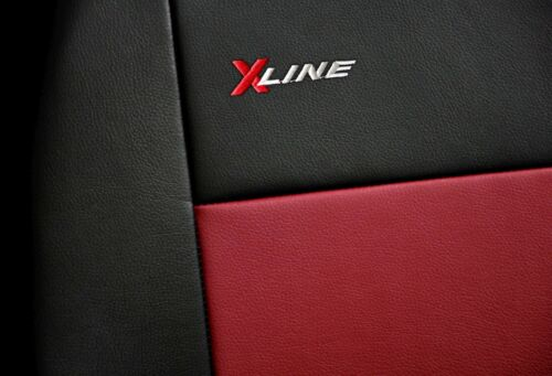 Front seat covers fit Lexus GS  black//red  Leatherette