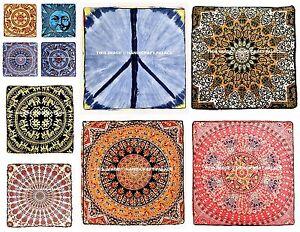 Indian-Large-Mandala-Cushion-Cover-Square-Decorative-Floor-Pillow-Ethnic-Pillows