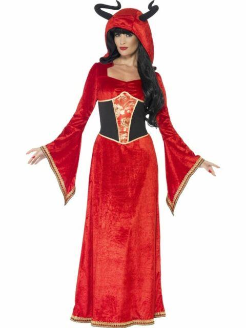Demonic Queen Scary Fancy Dress Costume Demon Devil