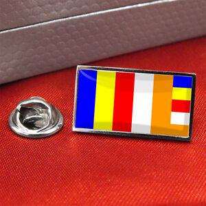 Buddhist Flag Lapel Pin Badge/Tie pin