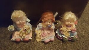 lovely resin ornaments x 3  girls with teddies - King's Lynn, United Kingdom - lovely resin ornaments x 3  girls with teddies - King's Lynn, United Kingdom