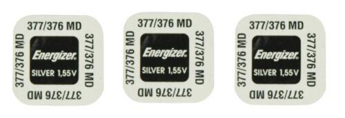 ENERGIZER  Lot de 3 Piles  377 376 SR626SW LR626 AG4 GS4  SR66 - 1,55v