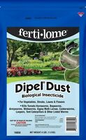 Fertilome Dipel Dust 4 Lb Bt Vegetables Natural Biological Insecticide Hornworms