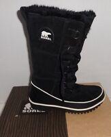 Sorel Women's Tivoli High Ii Black Winter Boots Waterproof Suede Size 6