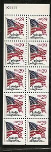 US-SC-2594a-Flag-Never-Folded-Pane-P-K1111-MNH