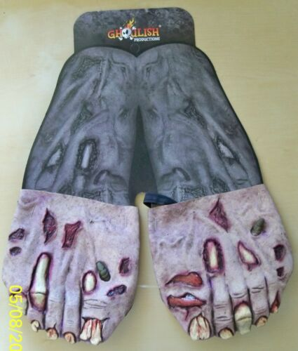 ADULT ZOMBIE FEET FOOT LATEX COVERS COSTUME ACCESSORY TB25328