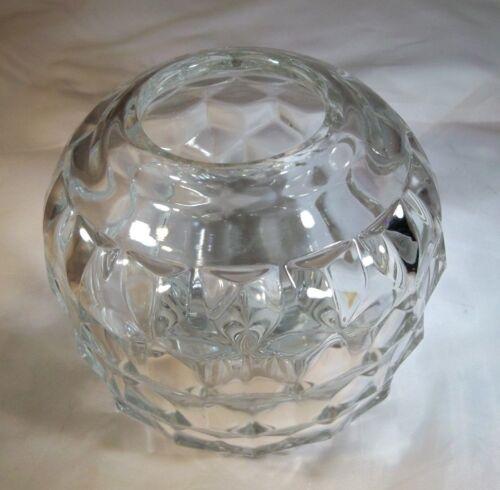 "FOSTORIA GLASS CO. AMERICAN CRYSTAL CLEAR 5"" DIAMETER ROSE BOWL VASE!"