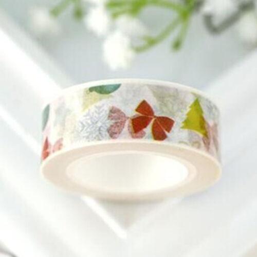 Washi Tape DIY Decorative Scrapbooking Paper Sticky Adhesive Sticker Craft Lot