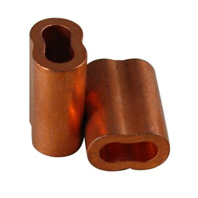 """3//32/"""" 50 Zinc Plated Copper Sleeves for Wire Rope Cable Made in USA"""