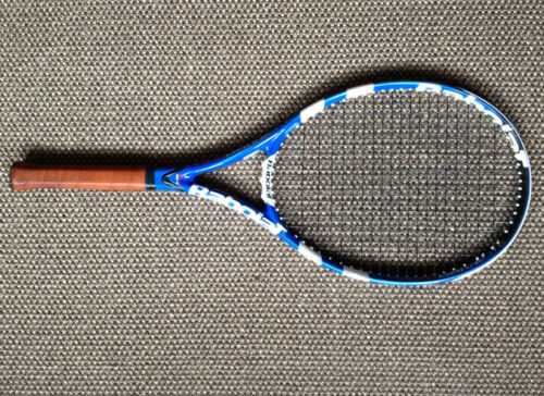 BABOLAT Pure Drive GT Lite Tennis Racket RPM Blast Strings Leather Grip size 1