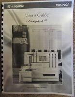 Husqvarna Viking Huskylock S25 Serger Owners Users Guide Instruction Manual Book