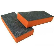 20pc Nail Buffer Medium Buffer Blocks 80/80 Grit Orange Buffer Black Grit