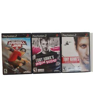 Lot Of 3 Tony Hawk PS2: Downhill jam American wasteland project 8 Playstation 2