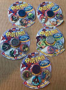 Details about POGS Lot Of 5 Sealed New Spider-Man Packs Slammers MARVEL  Venom Packs Hero Caps