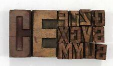 Letterpress Letter Wood Type Printers Block Lot Of 14 Typography Eb 114