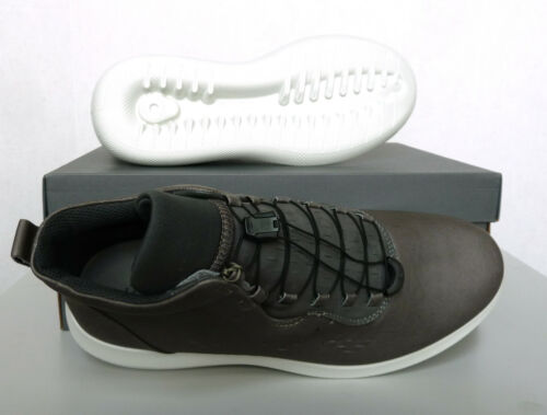 New Men`s ECCO Scinapse High Top Casual Sneakers Genuine Yak Leather 450554
