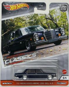 Hot Wheels Mercedes Benz 280 Se 72 Modern Classics FPY86-956S 1//64