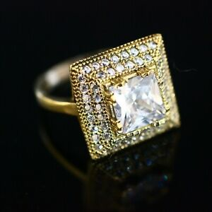 925-Sterling-Silver-Handmade-Authetic-Turkish-Zircon-Ladies-Ring-Size-9