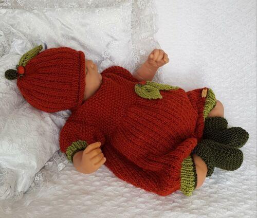 PRECIOUS NEWBORN KNITS BABY KNITTING PATTERN DK 81 UNISEX HALLOWEEN ROMPER SET
