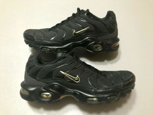 Nike Air Max Plus Tn Black Gold Running Shoes Snea