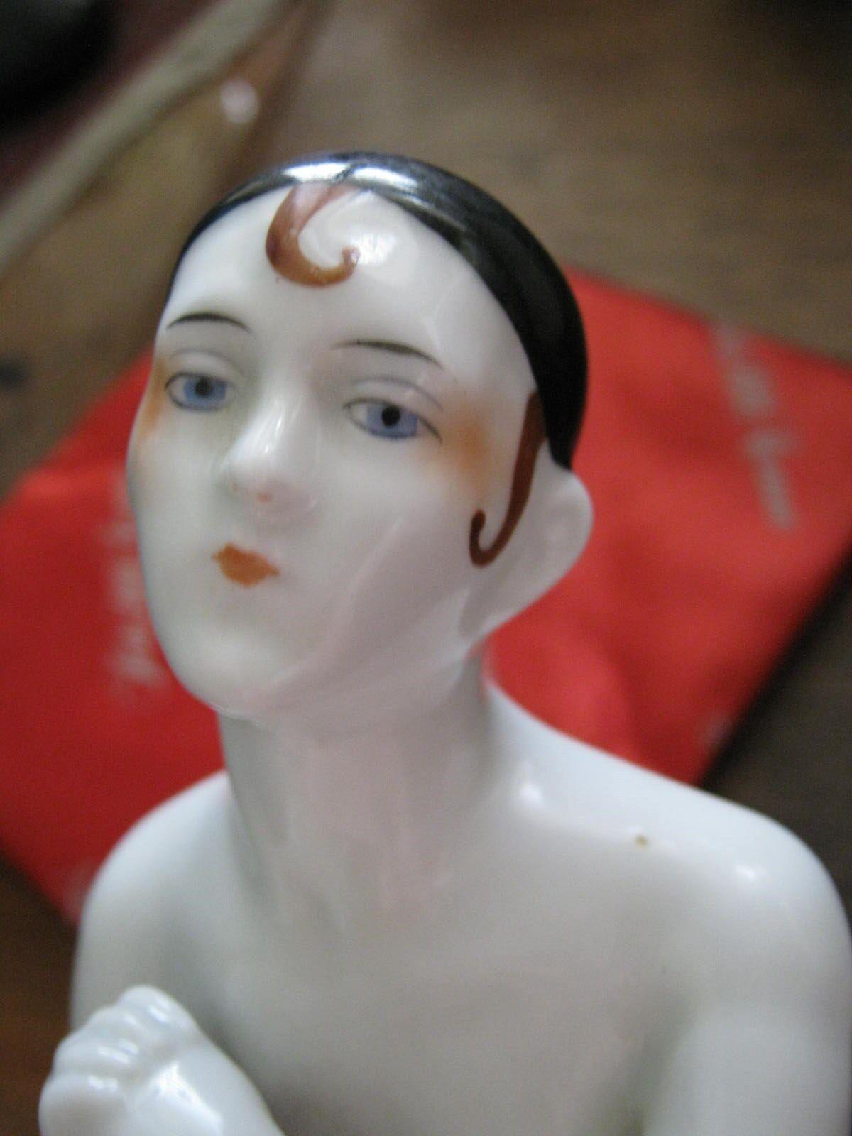 Pierrette media Muñeca Cuerpo, negro cráneo casquillo, Marrón escupir Rizos, Molde