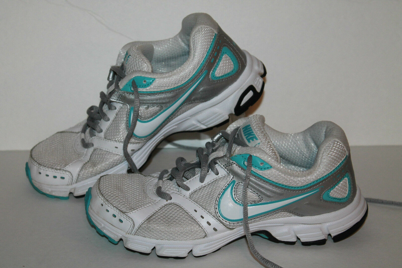 Nike Air Downshifter 4 Running Shoes, Wht/Turq/Slvr, Womens US 6.5