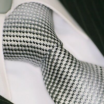 Krawatte Krawatten Schlips Binder de Luxe Tie cravate 437 grau