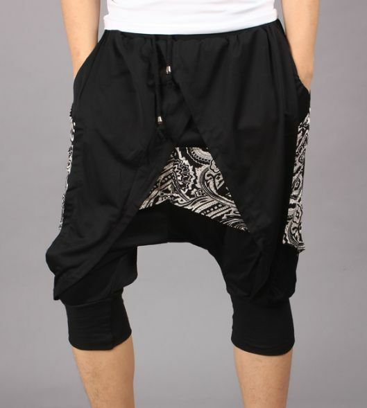 New Stylish Baggy Carpenter Drop Credch Cropped Personalized Mens Shorts Pants