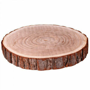 Natural-Wood-Log-Slice-Tree-Bark-Table-Centerpiece-Wedding-Cake-Stand-in-3-SIZES