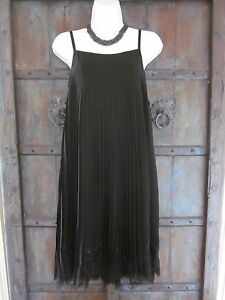 e72ed14bd7aa36 Womens Dress Black Pleated A-Line Simona Barbieri Twin-Set Size XS ...